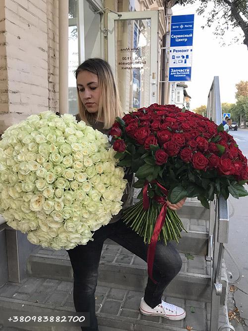 101 троянда у Львові фото товару